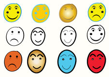 Smiley face set Royalty Free Stock Photo