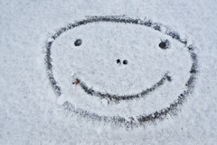Smiley face. Smiling snowman. Winter. Stock Photography