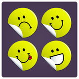 Smiley face stickers Royalty Free Stock Photo