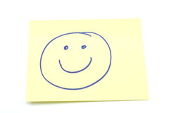 Smiley Face Stickey Note Royalty Free Stock Image