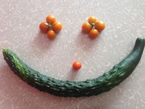 Smiley face vegetable style Royalty Free Stock Image