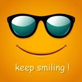 Smiley face. Yellow smile poster. Royalty Free Stock Photos