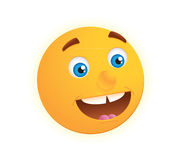 Smiley face. Yellow smiley face on white background Stock Image