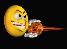 Smiley face zapping Stock Image
