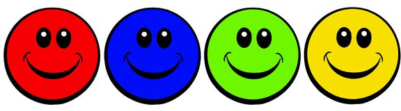 Smiley faces Royalty Free Stock Image