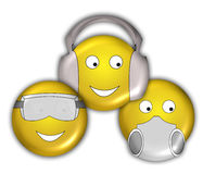 Smiley Faces. New Age - See no Evil, Hear No Evil, Speak No Evil Royalty Free Stock Photography