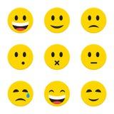 Smiley Faces amarillo sobre blanco Imagenes de archivo