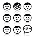 Smiley faces, avatar  icons set Stock Images