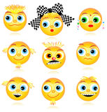 Smiley faces or avatars set Royalty Free Stock Image