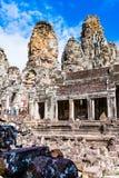 Smiley Faces de Bayon Temple& x28; Angkor Wat y x29; Fotografía de archivo