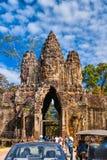 Smiley Faces de Bayon TempleAngkor Wat Fotografía de archivo