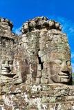 Smiley Faces de Bayon TempleAngkor Wat Imagenes de archivo