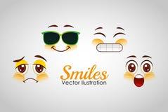 Smiley faces design Royalty Free Stock Photos