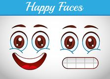 Smiley faces design Stock Images
