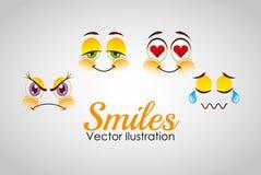 Smiley faces design Stock Photo