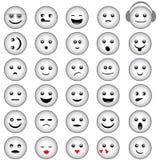 Smiley Faces Grey Design Foto de archivo libre de regalías