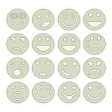 Smiley faces icon set Stock Images