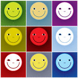 Smiley faces icons. Royalty Free Stock Photos