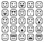 Smiley faces icons Royalty Free Stock Photos