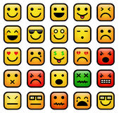 Smiley faces icons Royalty Free Stock Photography