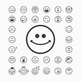 Smiley faces icons Stock Images