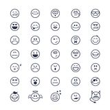 Smiley faces icons Royalty Free Stock Image