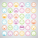 Smiley faces icons set Royalty Free Stock Photography