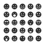 Smiley faces icons set of emotions Royalty Free Stock Image