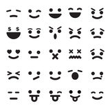 Smiley faces icons set Stock Image