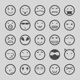 Smiley faces icons set Illustration eps10 Stock Images