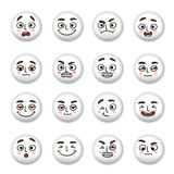 Smiley faces icons set Stock Photo