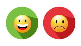 Smiley faces icons Stock Photography