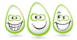 Smiley Faces Illustration Stock Image