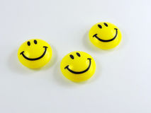 Smiley Faces jaune images stock
