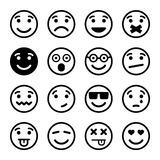 Smiley faces ns set Stock Image