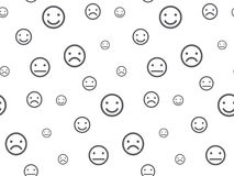 Smiley faces seamless pattern Royalty Free Stock Photography