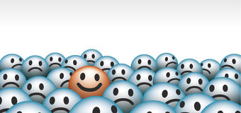 Smiley faces Royalty Free Stock Photography