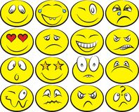 Smiley faces vector set Stock Photography