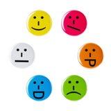 Smiley faces on a white background Stock Photos