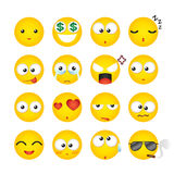 Smiley facial expression, icon, emotion. Vector Illustration Stock Photos