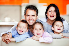 Smiley family Royalty Free Stock Photo