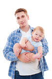 Smiley father and playful son Stock Photo