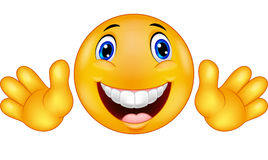 Smiley felice dell'emoticon Fotografie Stock