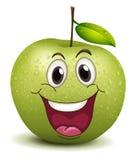 Smiley felice della mela illustrazione di stock