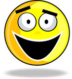 Smiley feliz Imagens de Stock Royalty Free