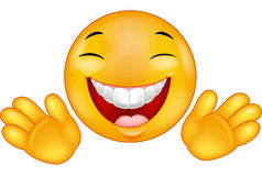 Smiley feliz do emoticon Imagens de Stock Royalty Free