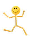 Smiley Figure. On White Background Stock Photography