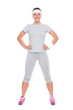 Smiley fitness woman Royalty Free Stock Images