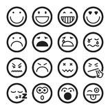 Smiley flat icons. Black Stock Photography
