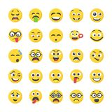 Smiley Flat Icons Set libre illustration